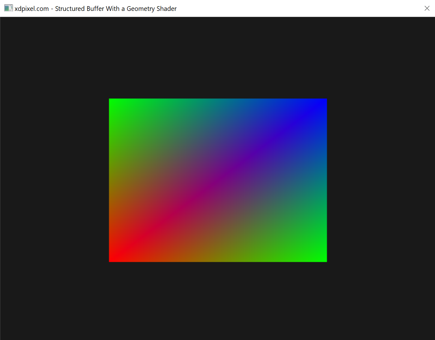 DirectX11 Geometry Shader with a Structured Buffer